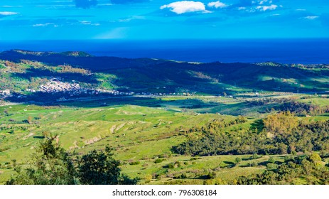 Landscape , near Staiti , Reggio Calabria Italy. Hight saturation of color. Beauty background for desktop of PC
