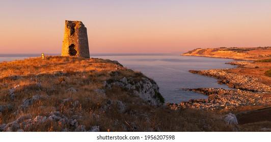 Landscape near Torre Sant Emiliano, Otranto, Salento coast, Apulia region, Italy - Shutterstock ID 1956207598