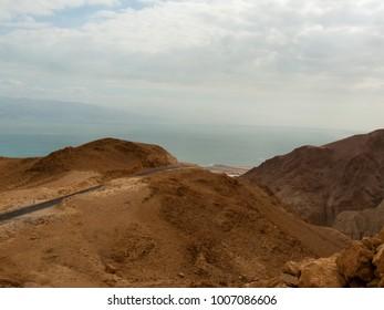Landscape of the Negev desert in Israel