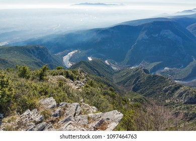 Landscape of Nestos River Gorge near town of Xanthi, East Macedonia and Thrace, Greece - Shutterstock ID 1097464763