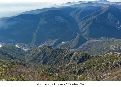 Landscape of Nestos River Gorge near town of Xanthi, East Macedonia and Thrace, Greece - Shutterstock ID 1097464769