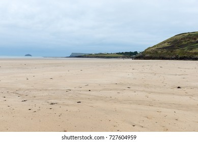 Landscape of north Cornwall in Autumn. View across sand dunes at Daymer Bay.