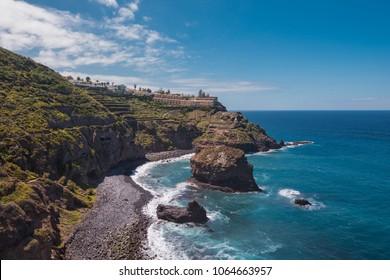 Landscape of north Tenerife island coastline, Canary islands, Spain.