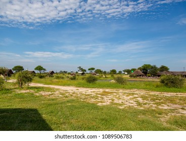 landscape at the north-eastern part of Botswana during summer