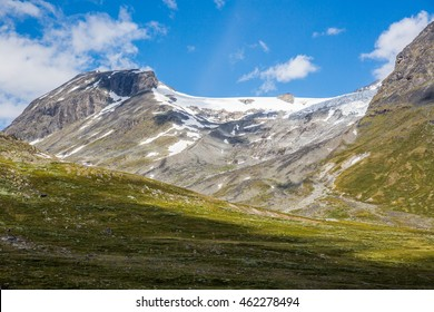The landscape of the Norwegian national park Jotunheimen