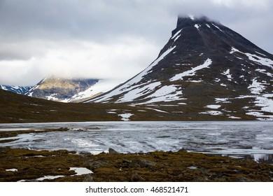 The landscape of the Norwegian national park Jotunheimen