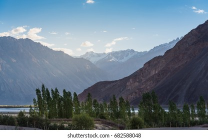 Landscape in Nubra Valley in Ladakh, India