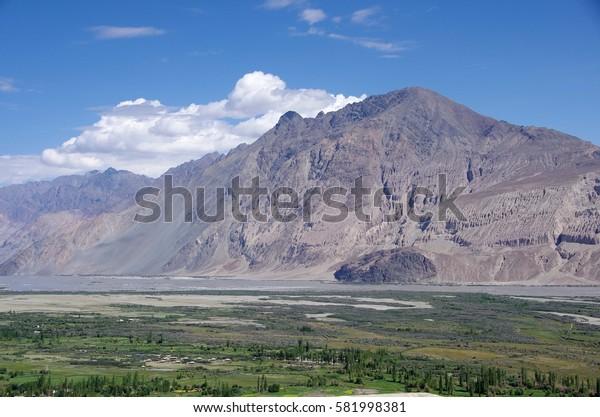 Landscape in the Nubra Valley in Ladakh, India