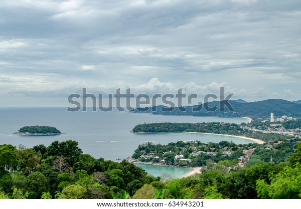 Landscape from the Observation Platform at Karon View Point, Phuket, Thailand.