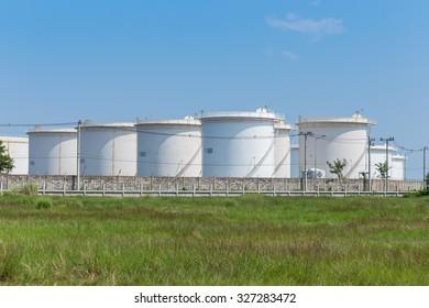 landscape Oil storage tanks