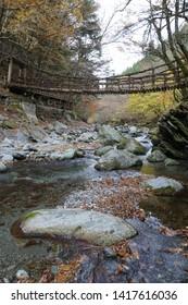 The landscape of Oku-Iya Double Vine Bridges (Tokushima, Japan)