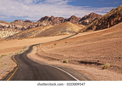 Landscape on Artists Drive in Death Valley in California in the USA