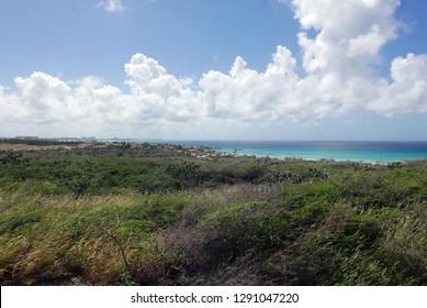 Landscape on the island of Aruba