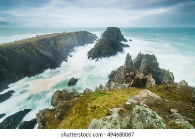 Landscape on Malin Head, Co Donegal/ Rocky coast line/County Donegal in Ireland