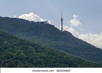 Landscape on the part of Vitosha mountain with television tower in Vitosha mountain, Bulgaria
