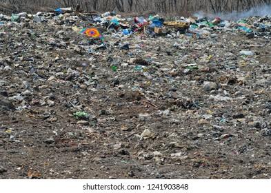 A landscape on scrap-heap.