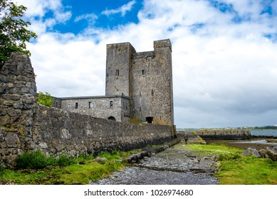Landscape of Oranmore castle in county Galway. Ireland, Uk.