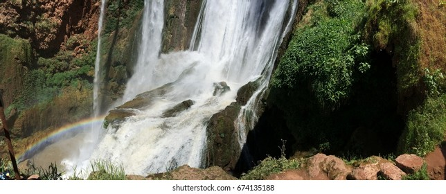 Landscape in Ouzoud Waterfall from Morocco (Beni mellal)