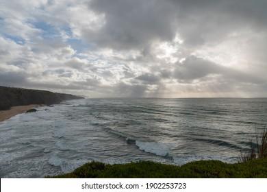 Landscape over Magoito beach in Sintra - Shutterstock ID 1902253723
