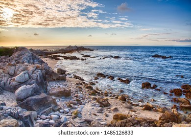 A landscape of the Pacfic Ocean along the famous 17 Mile Drive near Pebble Beach, California.