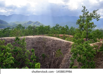 Landscape from the Pai canyon in Mae Hong Son Province, Northern Thailand
