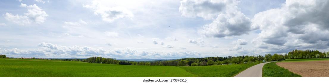Landscape in panorama