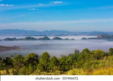 landscape panorama Kalaw Shan state Myanmar