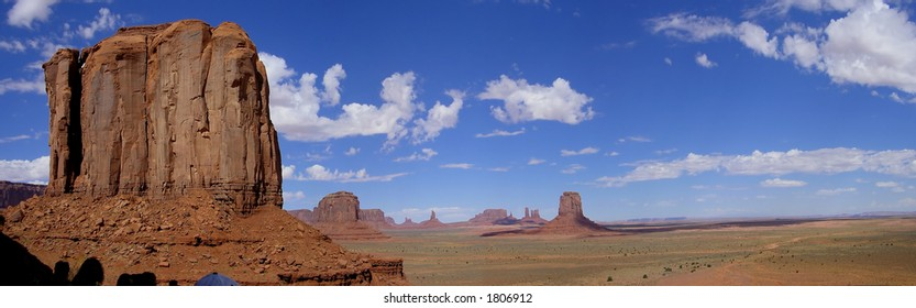 Landscape Panorama of Monument Valley in Arizona, USA