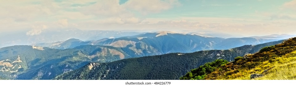 Landscape from the Parang mountains in Romania