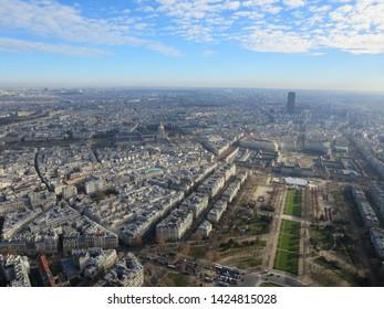 The landscape of Paris in France