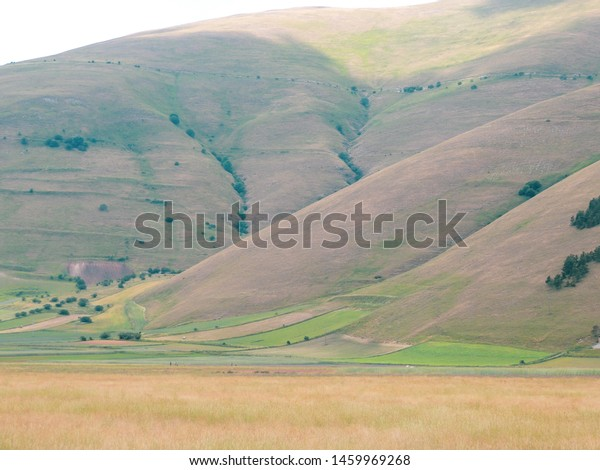 Landscape of Park of Sibillini, appenines between Umbria and Marche in Italy.