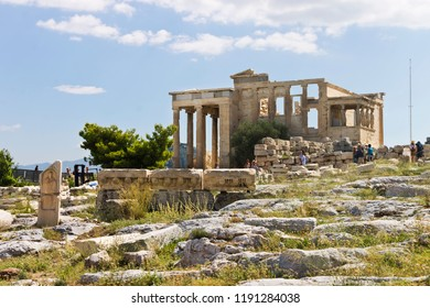 Landscape with Parthenon temple on summer day, Acropolis in Athens