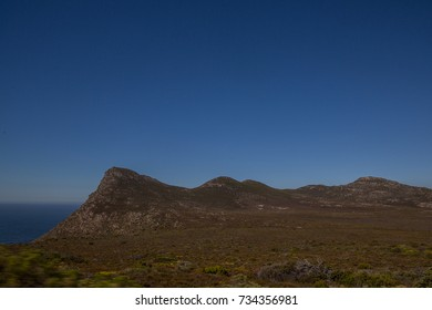 Landscape at the peninsula of cape town in South Africa