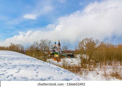 Landscape of Pereslavl-Zalessky. March 2019