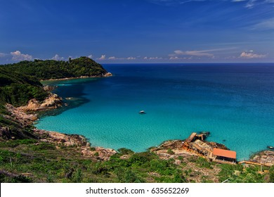 Landscape of Perhentian Island Blue sky and ocean From Windmill point
