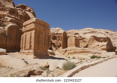 The landscape at Petra