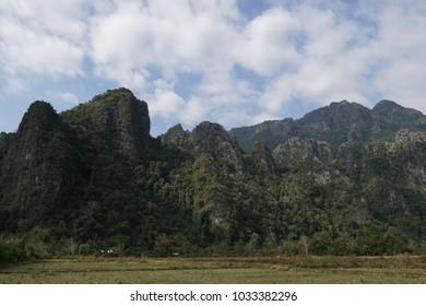 Landscape of Pha Hom, Vang Vieng, Laos
