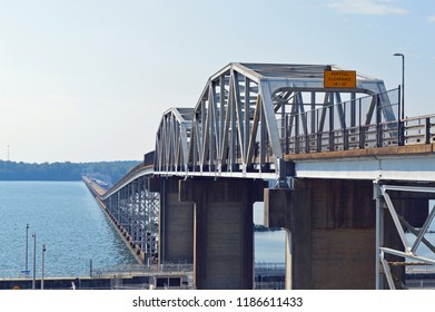 Landscape photo of the bridge over Wilson Dam near Florence, Alabama