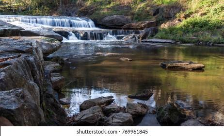 Landscape photo of the falls in Greenville, North Caroline