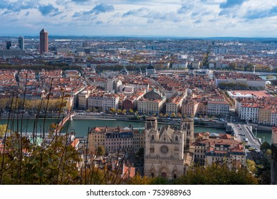 Landscape photo overlooking the city of Lyon, France