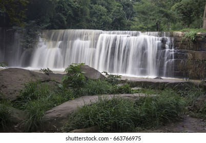 Landscape photo Waterfall hidden in the tropical jungle
