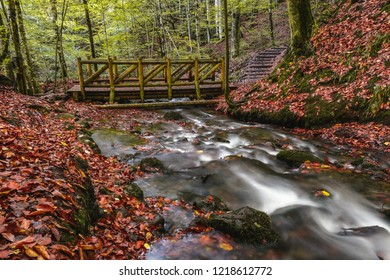 Landscape photograph of yedigoller falls in the yedigoller National Park of Bolu,Turkey