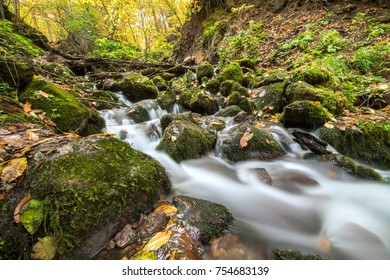 Landscape photograph of yedigoller falls in the yedigoller National Park of Bolu,Turkey.