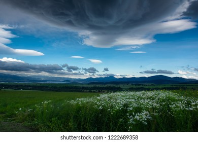 landscape photographs of the Western Tatras, form the supercell clouds, Spider fields and high mountains