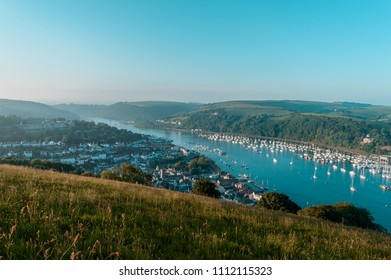 Landscape photography on a hill overlooking Dartmouth town in England