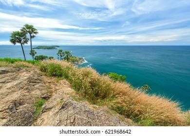 Landscape of Phromthep cape viewpoint in Phuket,Thailand