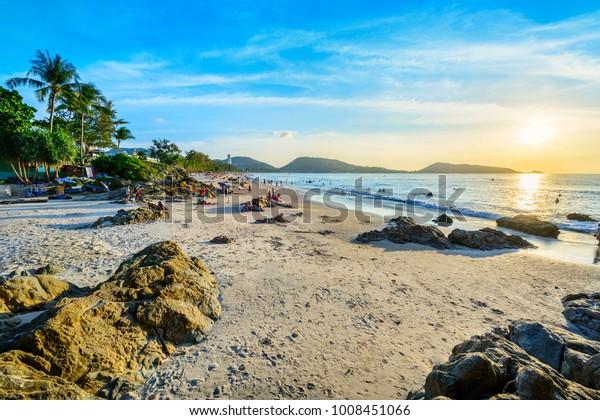 Landschaft von Phuket. In Patong Beach, Phuket, Thailand.