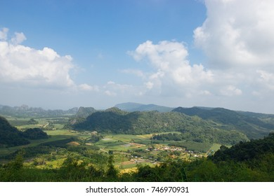 Landscape at  phupapoh 27 OCT 2017: View of  Phupapoh mountain at Loei Province,Thailand