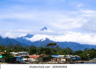 landscape of pico bonito, city of La Ceiba Honduras, vacation concept.