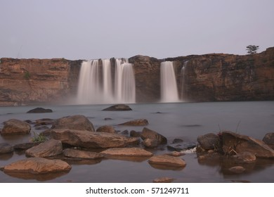 Landscape Picture of Chitrakote waterfalls in Bastar district